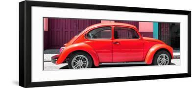 ¡Viva Mexico! Panoramic Collection - The Red Beetle Car-Philippe Hugonnard-Framed Photographic Print