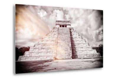 ?Viva Mexico! B&W Collection - Chichen Itza Pyramid XII-Philippe Hugonnard-Metal Print