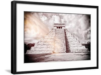 ?Viva Mexico! B&W Collection - Chichen Itza Pyramid XII-Philippe Hugonnard-Framed Photographic Print