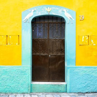 ¡Viva Mexico! Square Collection - 19rd Yellow Wall-Philippe Hugonnard-Framed Photographic Print