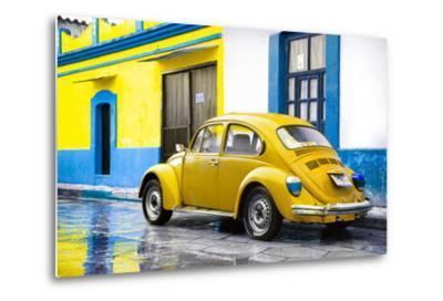 ?Viva Mexico! Collection - VW Beetle and Yellow Wall-Philippe Hugonnard-Metal Print