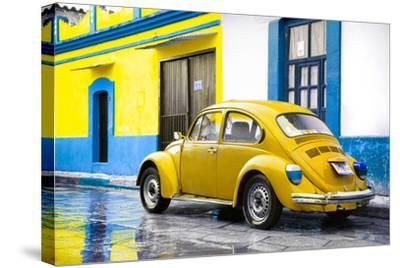 ?Viva Mexico! Collection - VW Beetle and Yellow Wall-Philippe Hugonnard-Stretched Canvas Print