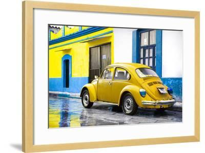 ?Viva Mexico! Collection - VW Beetle and Yellow Wall-Philippe Hugonnard-Framed Photographic Print
