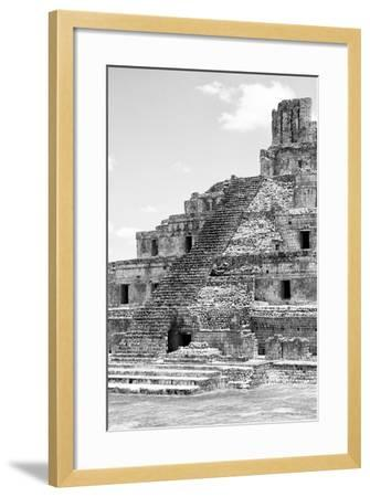 ?Viva Mexico! B&W Collection - Maya Archaeological Site V - Campeche-Philippe Hugonnard-Framed Photographic Print
