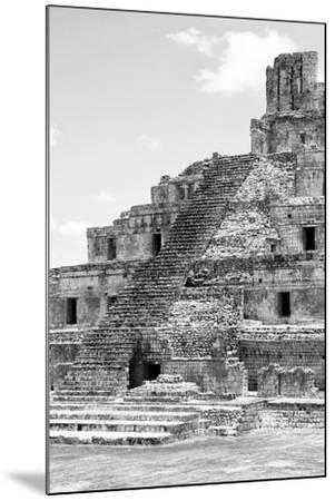 ?Viva Mexico! B&W Collection - Maya Archaeological Site V - Campeche-Philippe Hugonnard-Mounted Photographic Print