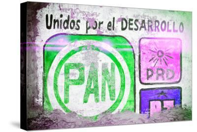 """?Viva Mexico! Collection - """"PAN"""" Street Art IV-Philippe Hugonnard-Stretched Canvas Print"""