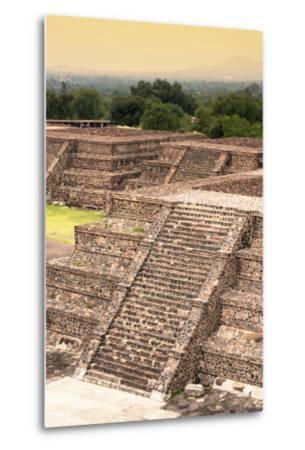 ¡Viva Mexico! Collection - Teotihuacan Pyramids-Philippe Hugonnard-Metal Print