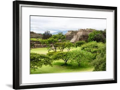 ¡Viva Mexico! Collection - Pyramid of Monte Alban-Philippe Hugonnard-Framed Photographic Print