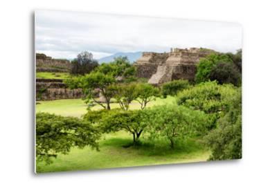 ¡Viva Mexico! Collection - Pyramid of Monte Alban-Philippe Hugonnard-Metal Print