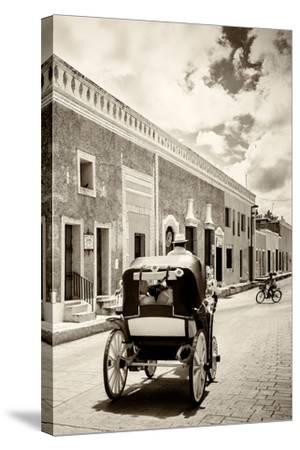 ?Viva Mexico! B&W Collection - Izamal the Yellow City III-Philippe Hugonnard-Stretched Canvas Print