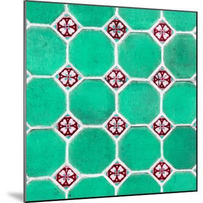 ¡Viva Mexico! Square Collection - Mosaics Coral Green Bricks-Philippe Hugonnard-Mounted Photographic Print