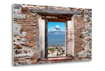 ?Viva Mexico! Window View - Popocatepetl Volcano in Puebla-Philippe Hugonnard-Metal Print