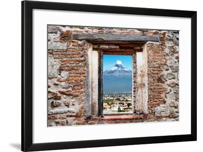 ?Viva Mexico! Window View - Popocatepetl Volcano in Puebla-Philippe Hugonnard-Framed Photographic Print