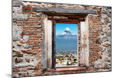 ?Viva Mexico! Window View - Popocatepetl Volcano in Puebla-Philippe Hugonnard-Mounted Photographic Print