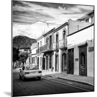 ¡Viva Mexico! Square Collection - Oaxaca Street with Yellow Taxi II-Philippe Hugonnard-Mounted Photographic Print