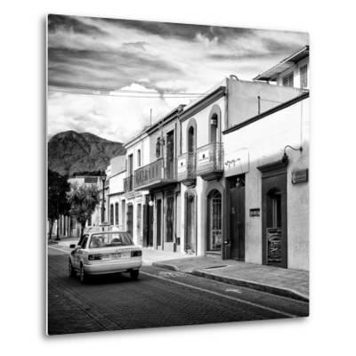 ¡Viva Mexico! Square Collection - Oaxaca Street with Yellow Taxi II-Philippe Hugonnard-Metal Print