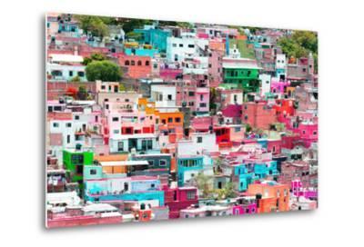 ?Viva Mexico! Collection - Guanajuato - Colorful Cityscape XIV-Philippe Hugonnard-Metal Print
