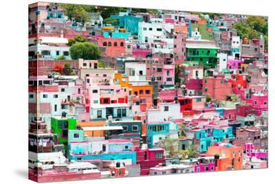 ?Viva Mexico! Collection - Guanajuato - Colorful Cityscape XIV-Philippe Hugonnard-Stretched Canvas Print