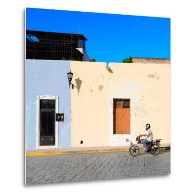 ¡Viva Mexico! Square Collection - Motorbike Ride in Campeche-Philippe Hugonnard-Metal Print