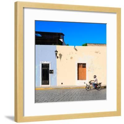 ¡Viva Mexico! Square Collection - Motorbike Ride in Campeche-Philippe Hugonnard-Framed Photographic Print