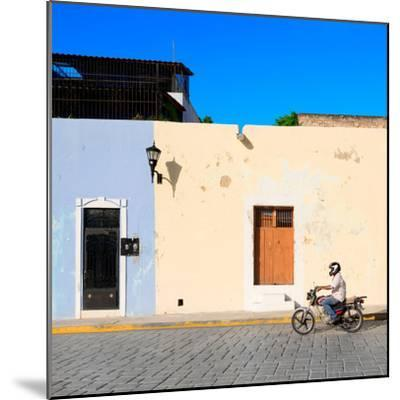 ¡Viva Mexico! Square Collection - Motorbike Ride in Campeche-Philippe Hugonnard-Mounted Photographic Print