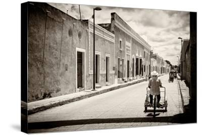 ?Viva Mexico! B&W Collection - Urban Scene in Izamal V-Philippe Hugonnard-Stretched Canvas Print