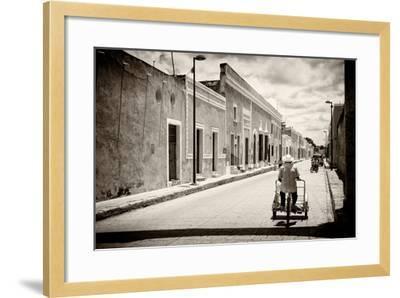 ?Viva Mexico! B&W Collection - Urban Scene in Izamal V-Philippe Hugonnard-Framed Photographic Print