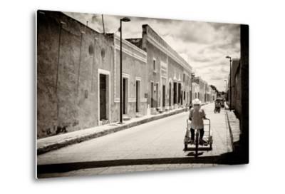 ?Viva Mexico! B&W Collection - Urban Scene in Izamal V-Philippe Hugonnard-Metal Print