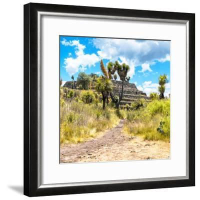 ¡Viva Mexico! Square Collection - Cantona Archaeological Ruins-Philippe Hugonnard-Framed Photographic Print