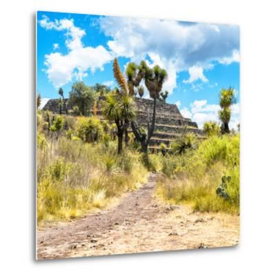 ¡Viva Mexico! Square Collection - Cantona Archaeological Ruins-Philippe Hugonnard-Metal Print