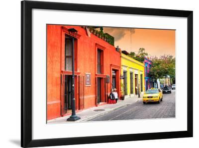 ?Viva Mexico! Collection - Colorful Mexican Street at Sunset-Philippe Hugonnard-Framed Photographic Print