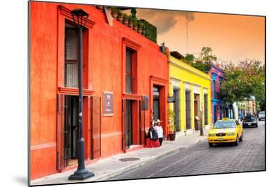 ?Viva Mexico! Collection - Colorful Mexican Street at Sunset-Philippe Hugonnard-Mounted Photographic Print
