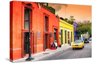 ?Viva Mexico! Collection - Colorful Mexican Street at Sunset-Philippe Hugonnard-Stretched Canvas Print