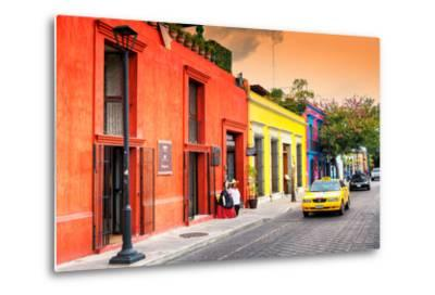 ?Viva Mexico! Collection - Colorful Mexican Street at Sunset-Philippe Hugonnard-Metal Print