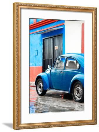 ¡Viva Mexico! Collection - VW Beetle Car and Blue Wall-Philippe Hugonnard-Framed Photographic Print