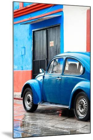 ¡Viva Mexico! Collection - VW Beetle Car and Blue Wall-Philippe Hugonnard-Mounted Photographic Print