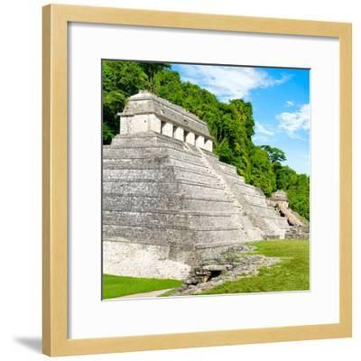 ¡Viva Mexico! Square Collection - Temple of Inscriptions in Palenque-Philippe Hugonnard-Framed Photographic Print