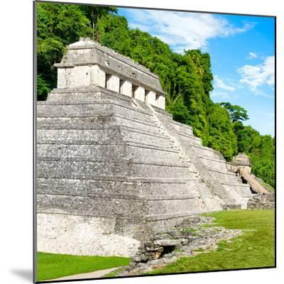 ¡Viva Mexico! Square Collection - Temple of Inscriptions in Palenque-Philippe Hugonnard-Mounted Photographic Print