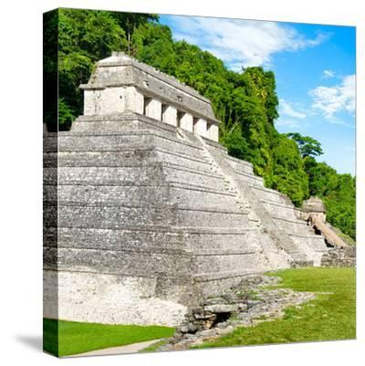 ¡Viva Mexico! Square Collection - Temple of Inscriptions in Palenque-Philippe Hugonnard-Stretched Canvas Print