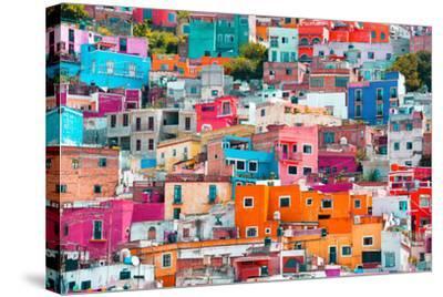 ?Viva Mexico! Collection - Colorful Cityscape XII - Guanajuato-Philippe Hugonnard-Stretched Canvas Print