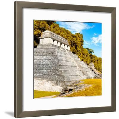 ¡Viva Mexico! Square Collection - Temple of Inscriptions in Palenque III-Philippe Hugonnard-Framed Photographic Print
