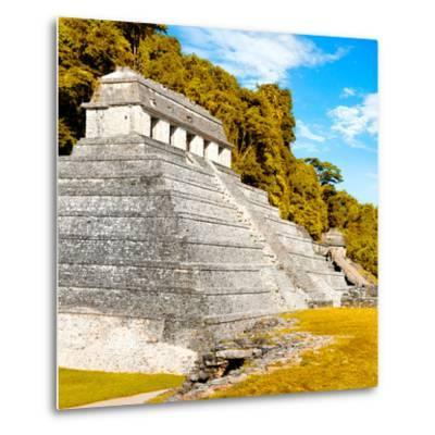 ¡Viva Mexico! Square Collection - Temple of Inscriptions in Palenque III-Philippe Hugonnard-Metal Print