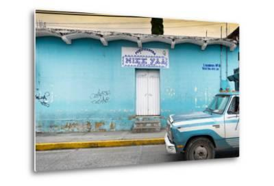 ?Viva Mexico! Collection - Blue Truck-Philippe Hugonnard-Metal Print