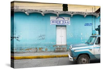 ?Viva Mexico! Collection - Blue Truck-Philippe Hugonnard-Stretched Canvas Print