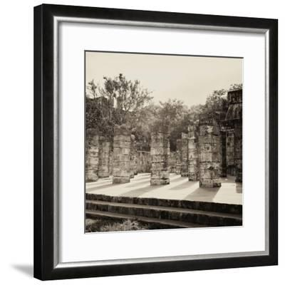 ¡Viva Mexico! Square Collection - One Thousand Mayan Columns in Chichen Itza VI-Philippe Hugonnard-Framed Photographic Print