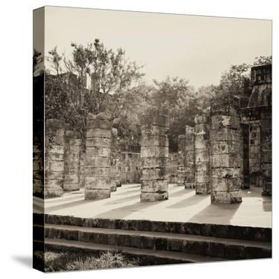¡Viva Mexico! Square Collection - One Thousand Mayan Columns in Chichen Itza VI-Philippe Hugonnard-Stretched Canvas Print