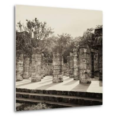 ¡Viva Mexico! Square Collection - One Thousand Mayan Columns in Chichen Itza VI-Philippe Hugonnard-Metal Print
