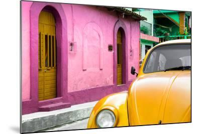 ¡Viva Mexico! Collection - Yellow VW Beetle Car and Colorful House-Philippe Hugonnard-Mounted Photographic Print