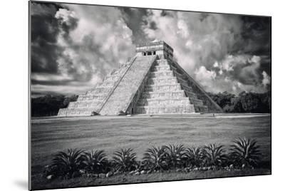 ?Viva Mexico! B&W Collection - El Castillo Pyramid VI - Chichen Itza-Philippe Hugonnard-Mounted Photographic Print