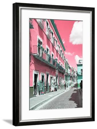 ?Viva Mexico! Collection - Pink Street Scene - Guanajuato-Philippe Hugonnard-Framed Photographic Print